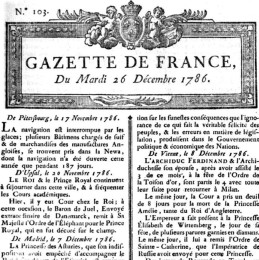 Gazette de la France - wikipédia