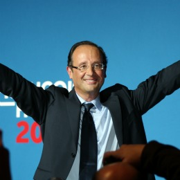 François Hollande, lors de son meeting à Mérignac