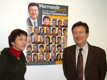 Michel Diefenbacher et Laurence Valay - Candidat UMP