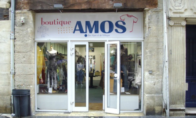 La boutique Amos rue Sainte Catherine à Bordeaux