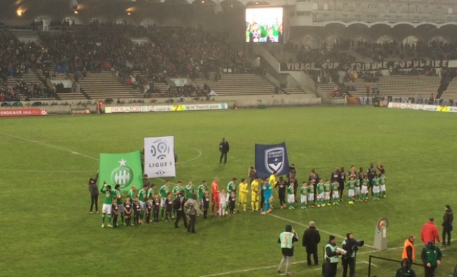 Bordeaux a battu 2 à 0 Saint-Etienne