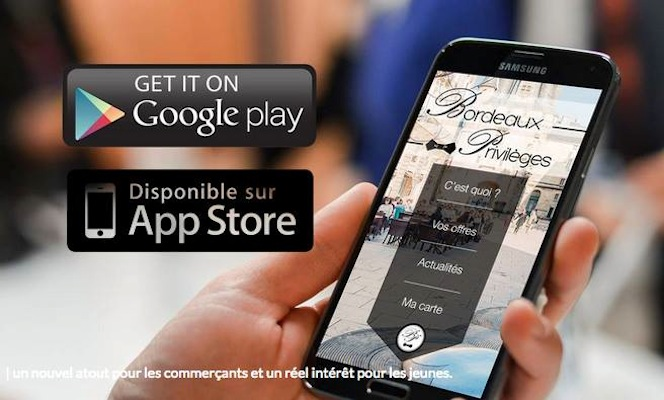 application smartphone Bordeaux Privilèges