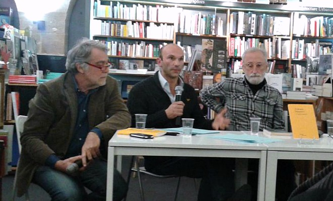 Christian Jacquot, Laurent Lombard et Antonio Moresco à la Machine à lire le 5 février 2015