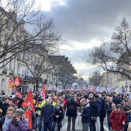 manifestation Bordeaux 17/12