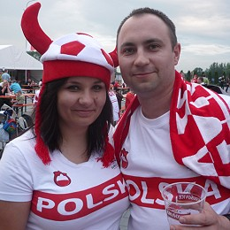 Euro vu de Cracovie - Supporter Polonais
